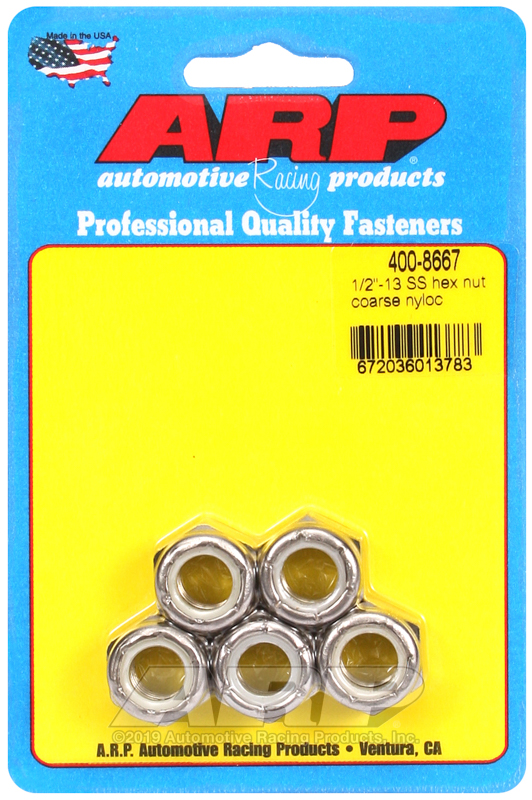 1/2-13 SS coarse nyloc hex nut kit