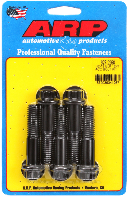 1/2-13 x 2.250 12pt black oxide bolts