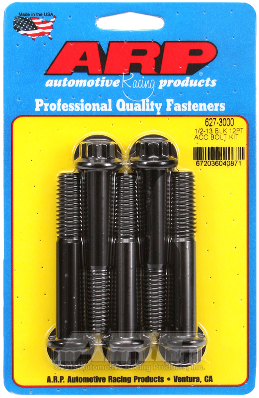 1/2-13 x 3.000 12pt black oxide bolts