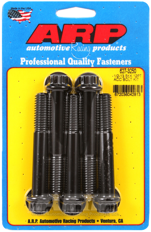 1/2-13 x 3.250 12pt black oxide bolts