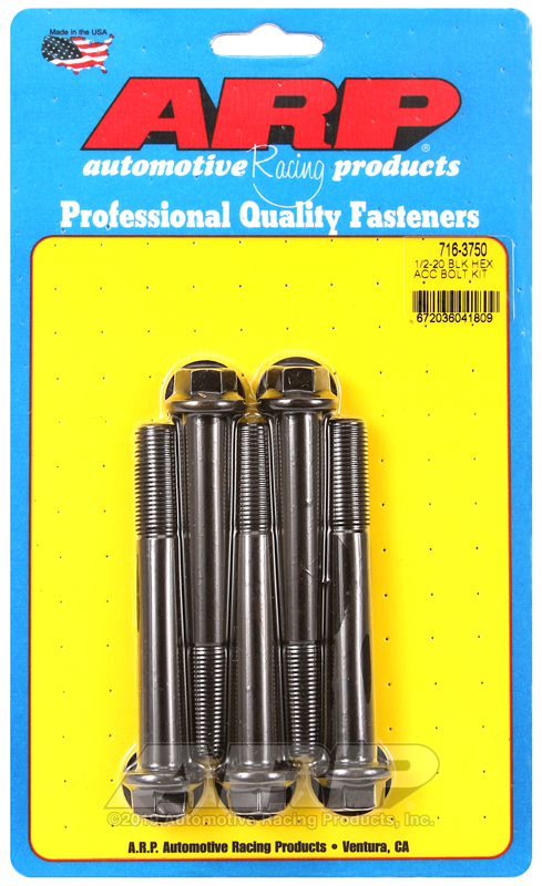 1/2-20 x 3.750 hex black oxide bolts