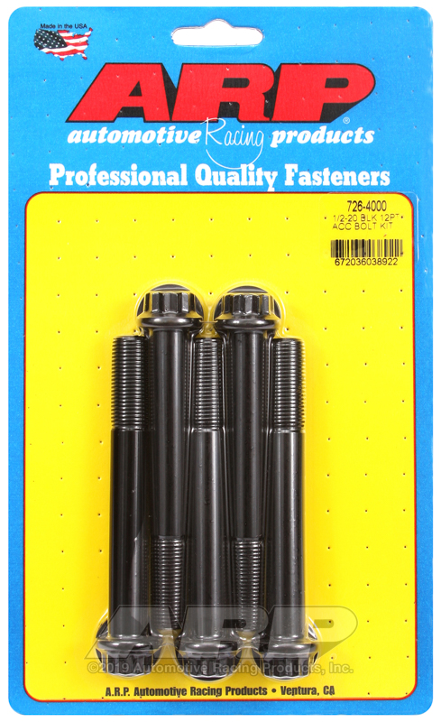 1/2-20 x 4.000 12pt black oxide bolts