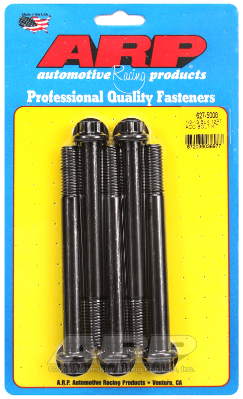 1/2-13 x 5.000 12pt black oxide bolts