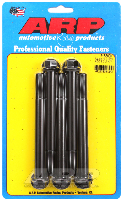 1/2-20 x 5.000 hex black oxide bolts