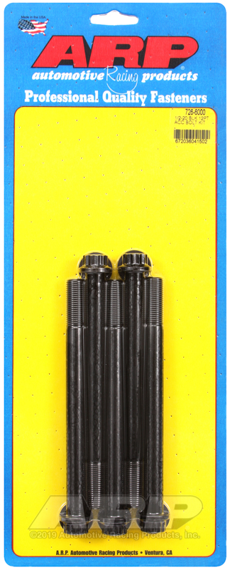 1/2-20 x 6.000 12pt black oxide bolts