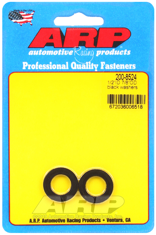 1/2 ID 7/8 OD black washers