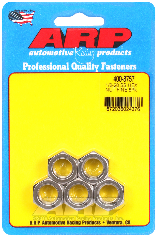 1/2-20 SS fine hex nut kit