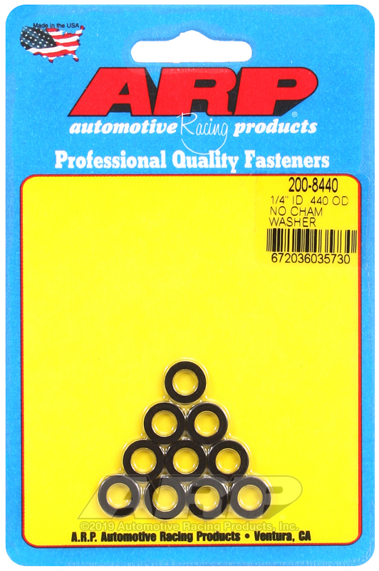1/4 ID .440 OD no chamfer black washers