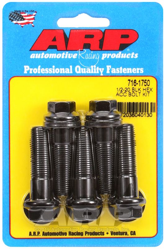 1/2-20 x 1.750 hex black oxide bolts