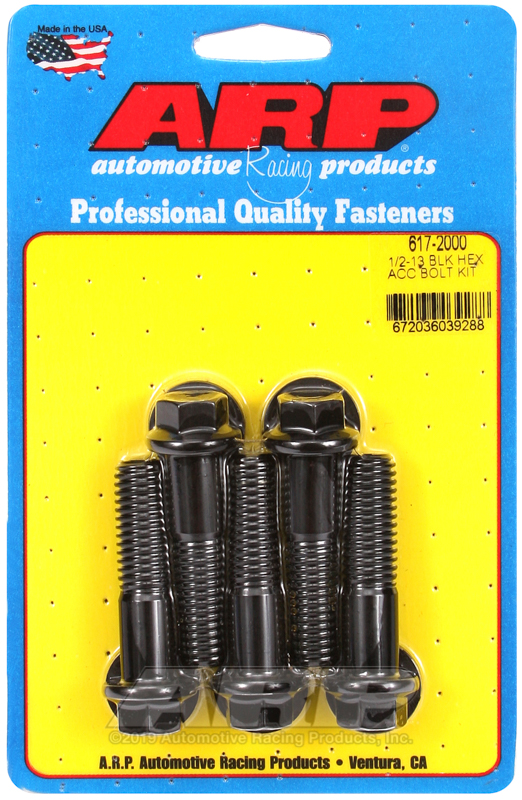 1/2-13 x 2.000 hex black oxide bolts