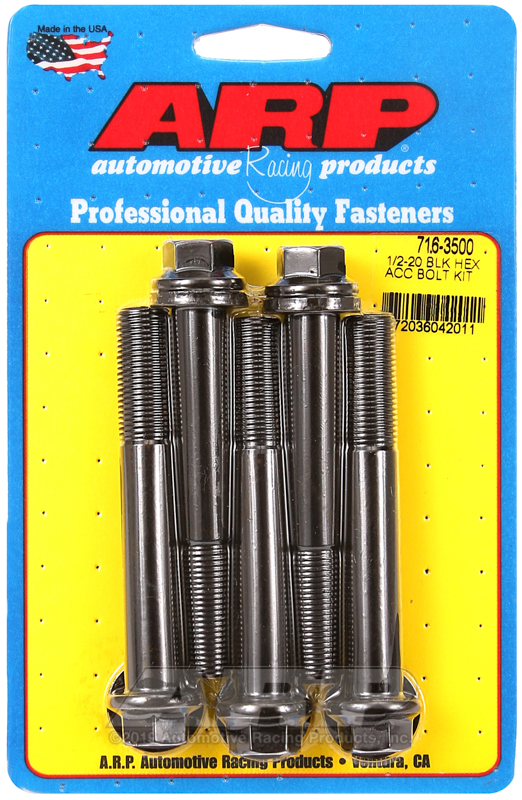 1/2-20 x 3.500 hex black oxide bolts
