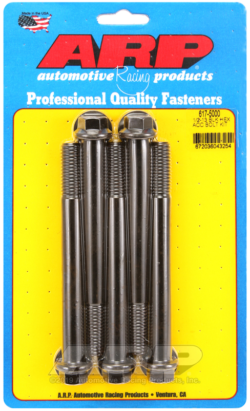 1/2-13 x 5.000 hex black oxide bolts