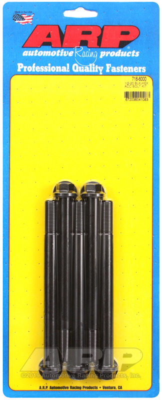 1/2-20 x 6.000 hex black oxide bolts